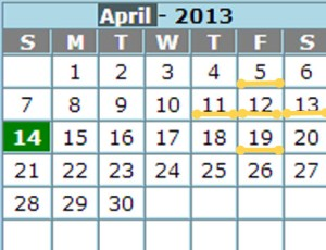Calendar three